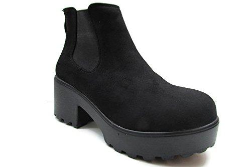 Zapato Mujer SHOES Plataforma THF205N DE HF 36 Negro 8C5wqxX