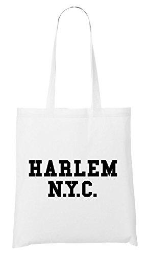 Harlem NYC Bag White