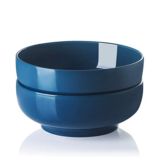SWEEJAR 2.8 Quarts Large Serving Bowls for Salad Pasta Side Dish, 90 Oz Porcelain Bowls for Family Party, Round…