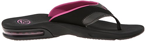 Reef Fanning - Chanclas para mujer Black/Grey/Berry