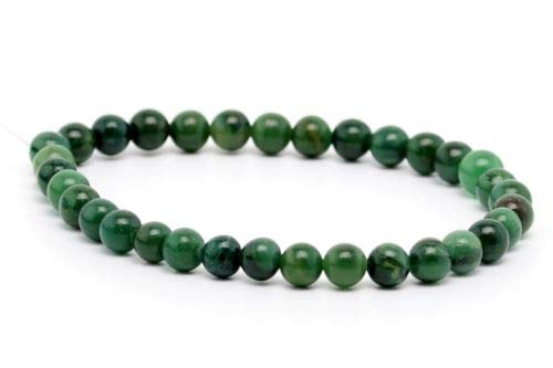 6mm Natural African Jade Gemstone Beads Grade Round Loose Beads 7.5'' Crafting Key Chain Bracelet Necklace Jewelry Accessories Pendants