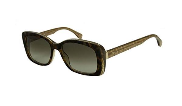 Amazon.com: Fendi Womens Rectangle Sunglasses - 53mm (Havana ...