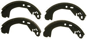 Wagner ThermoQuiet PAB636R Riveted Brake Shoe Set, Rear