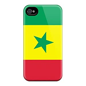 Buydiycase ZFN4993GjIM Protective Case For Iphone 4/4s(senegal Flag)