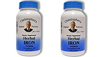 - Christopher's Herbal Iron,180 Caps 2 Pack