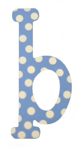 My Baby Sam Polka Dot Letter b, Blue/White - Polka Dot Wall Letters