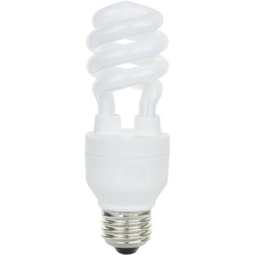 Bulb Lamp Mdt Light (Sunlite SM13/E/27K/CD2 13 Watt Mini Spiral Energy Star Certified CFL Light Bulb Medium Base Warm White Carded 2 Pack)