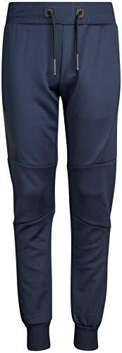 XS Sport Boy\'s Sport Tech Active Fleece Jogger Pant (Navy/Cut Sew Detail, Large)'