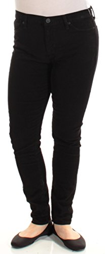 Hudson Jeans Women's Nico Midrise Super Skinny Corduroy, Black Coated, 29