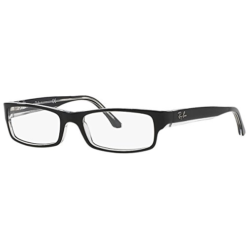Ray-Ban Women's RX5114-2034  Black/Transparent Frame, Rectangular 54mm - Frame Latest Eyeglass