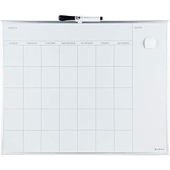 Amazon.com : U Brands Magnetic Monthly Calendar Dry Erase