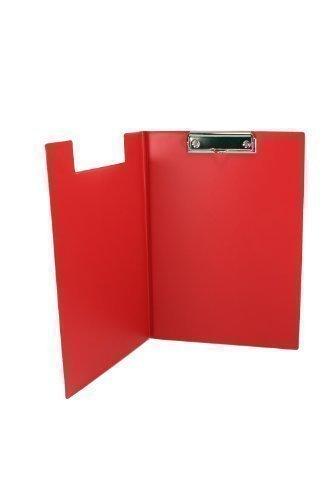 Aufklappbare Klemmbrettmappe DIN A4 rot aus dt. Herstellung