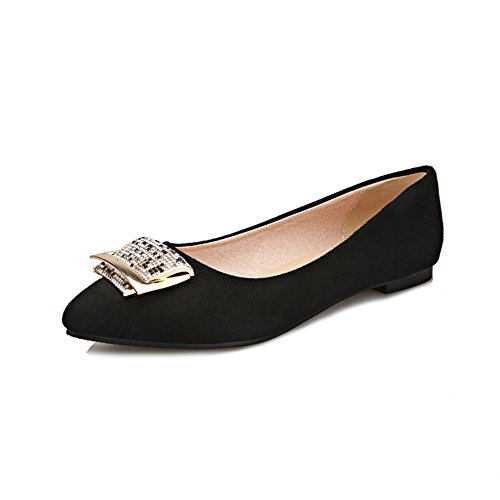 Versión coreana de puntiagudos zapatos planos en verano/rhinestone hebilla zapatos de bajo/Zapatos de las mujeres embarazadas B