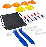 Flag Football KIT (6 Cones, 10 Belts, 2 Flags per Belt, a Bag)