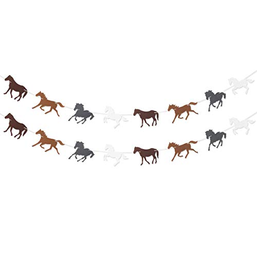 Horse Garland Banner for Kentukey Derby Horse Race Birthday Party Supplies Decorations]()