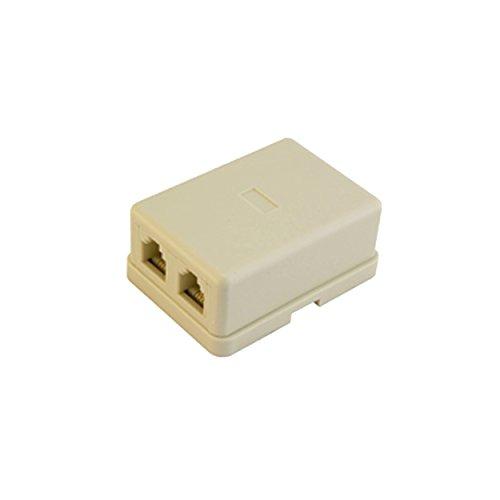 DGA6411 Homevision Technology Dual Baseboard Jack (6P4C) - White Landline Telephone Accessory