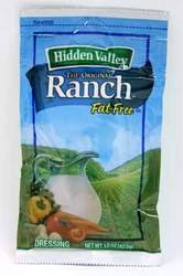 Hidden Valley Fat Free Ranch Portion Pack Dressing - 84 Case 1.5 Ounce