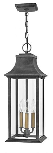 Hinkley 2932DZ Adair Outdoor Pendant, 3-Light 180 Total Watts, Aged - New 3 Light Pendant England