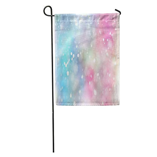NfuquyamDoormat Garden Flag Rainbow Pastel Lens Bokeh Effect Colorful Spot Blur Bubble Abstract Home Yard House Decor Barnner Outdoor Stand 12x18 Inches Flag