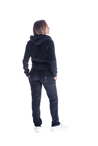 Women's Soft Active 2 Piece Velour Hoodie & Pants Tracksuit Set