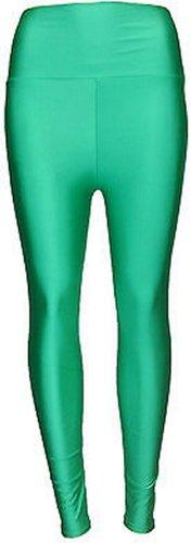 Grande Jade Humide Brillant Disco Pantalon Regard Green Nouvelles Femmes De D'unité Taille Centrale Américain RxgqpC5