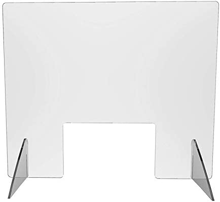 Divisori Schermo da scrivania portatile Protezione da starnuto per ricezione contatori di schermi Schermo protettivo trasparente autoportante in plastica acrilica Protezione portatile contro tosse