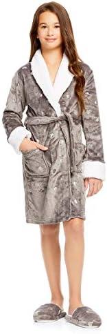 Jellifish Kids Girls Plush Sleep Robe - FoilFleece Bathrobe