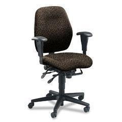 (- 7800 Series High-Performance Mid-Back Task Chair, Tectonic Black)