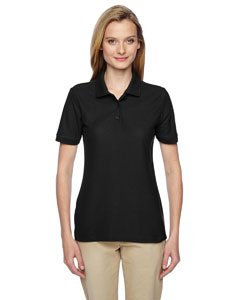 Jerzees Easy Care Ladies' Pique Sport Shirt (Black) (L) ()