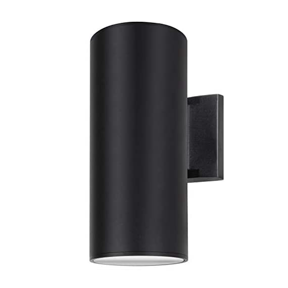Outdoor Wall Light, ZUUKOLE Exterior Lighting - ETL Listed, Die-Casting Aluminum Waterproof Wall Mount Cylinder Design… - ENHANCE THE LOOK OF YOUR HOME - The elegant vertical design of this outdoor wall sconce is the perfect addition to your Mid-Century Modern home. Perfect for your walkway, pathway, garden, poolside or villa. Great for indoor or outdoor use. Easy set up as exterior lighting or as a security wall light above your front door. INDOOR OR OUTDOOR USE - 2-light exterior wall light is Weather-resistant & Rust-resistant, Waterproof IP54, ETL, CE & RoHS Listed. 2-Anodized Aluminum Reflectors are included in the fixture, which help to give lots of light obviously. Ideal for exterior porch, patio, garden, open field. DURABLE & LONG LASTING: 100% Die-casting Aluminum, powder coating surface, Tempered glass diffuser, up down lids screw into the body, sealed with Silicone gasket. Embedded wall lamp. Input Voltage 100-240V. - patio, outdoor-lights, outdoor-decor - 316U5YSIM3L. SS570  -
