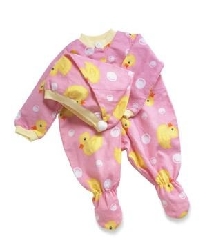Middleton Doll Pink Duck Sleeper and (Lee Middleton Newborn Doll Clothing)