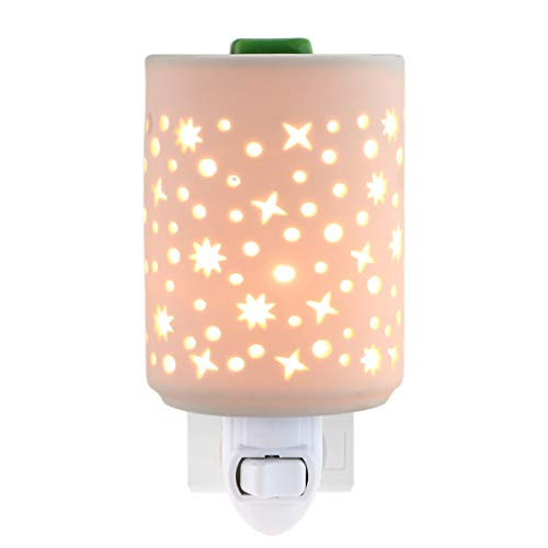 STAR MOON Plug in Warmers for Wax Melt, Pluggable Home Fragrance Diffuser, Hollowed-Out Work, No Flame, with One More Bulb, Starry Night (Fragrance Magic Moon)