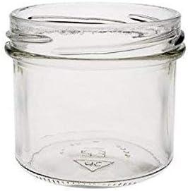 125 ml Tapa Embudo Amarillo con sujeci/ón Lote de 8 tarros de Mermelada peque/ños Viva Haushaltswaren G1130125//8T//wei/ß//X