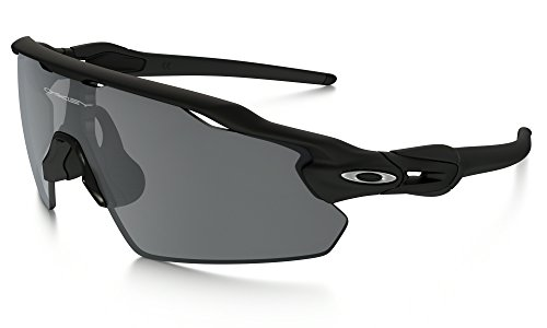 Oakley Radar EV Pitch Sunglasses Matte BLK / BLK Irid. & Cleaning Kit - Pitch Sunglasses Radar