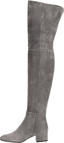 ELEHOT Womens Ehighee 3CM low-heel Boots, Grey, 10.5