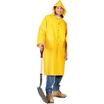 PVC Knee Length Raincoat, (2 X-Large) supplier