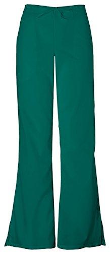 Cherokee Workwear Women's 4101 Flare Leg Drawstring Scrub Pant- Hunter- 3X-Large (4101 Cherokee Scrub Pants Hunter)