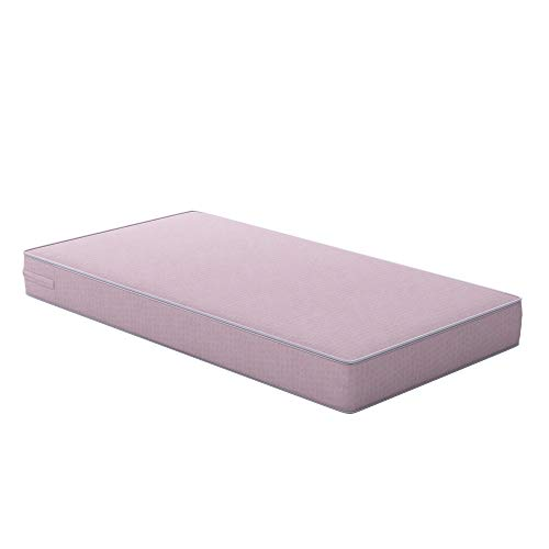 Safety 1st Heavenly Dreams Pink Crib & Toddler Bed Mattress for Baby & Toddler, Water Resistant, Lightweight, Hypoallergenic, Green Guard Gold Certified ()
