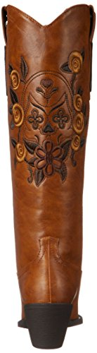 Roper Women's Dawn Western Boot,Floral/Skull Tan,8 M US