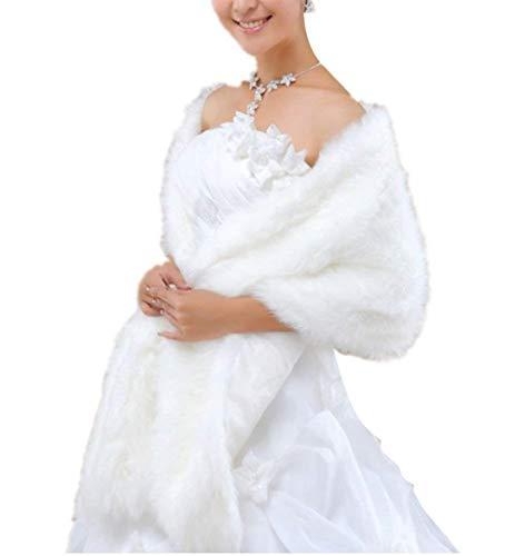 Invierno De Otoño Elegantes Sintético Blanco Chal De Piel Chal Colores Termica Casuales Poncho Poncho Exquisito Screenes Bridal Sólidos Novia Capa Piel Mujer Espesor Moda qIwEPnt