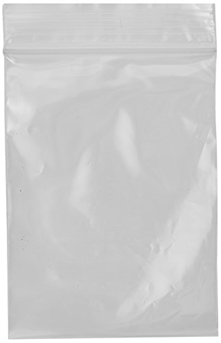 Beadaholique 3 by 4-Inch 100 Self Sealing Zipline Brand Bags, Clear - Small Zip Lock Plastic Bags