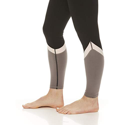 Gaiam Women's High Rise Waist Yoga Pants - Performance Compression Workout Leggings - Athletic Gym Tights - Black (Tap Shoe) ColorBlack, Large