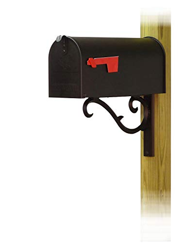 Special Lite Products Company Standard Steel Curbside Mailbox with Sorrento Front Single Mailbox mounting Bracket (Sorrento Post)