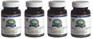 Naturessunshine Витамин Е В комплекте с Селен 400 МЕ Поддержка системы кровообращения 60 мягких капсул (упаковка 4)