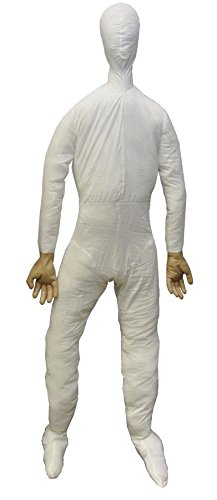Lifesize Posable Dummy 6 Ft Full Size with Hands Haunted House Halloween Prop -