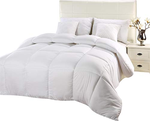 Utopia Bedding Comforter Duvet Insert - Quilted Comforter thru Corner Tabs - Hypoallergenic, Box Stitched off other Comforter (Queen, White)