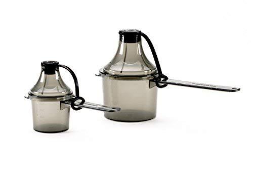 Scoopie 2 Count Portable Scoop Funnel Pre/Post Pack, Black - #1 On The Go Powder Dispenser For Water Bottles and Shaker Bottles