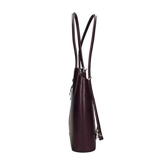 Pelle 28x30x9 Italy Cm Made Viola A Chicca In Bag Borsa Borse Spalla x6qzwzYBp