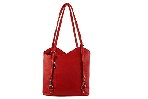De Piel Mujer Chloly Otra Mochila Claro Bolso Para Rojo 6qawE7Zwx