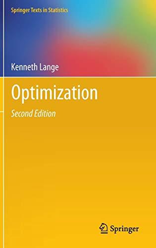 Optimization (Springer Texts in Statistics)
